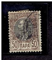 SERBIE. ( Y&T) 1905 - N°89a  * Pierre 1er Karageorgevich*  50p (oblit) - Serbia