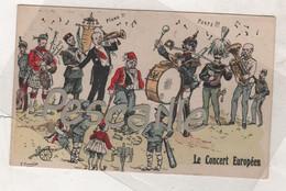 DEBUT XXe CP LE CONCERT EUROPEEN - DEPECAGE DE L'EMPIRE OTTOMAN - ILLUSTRATEUR F. Chamöin - - Historia