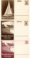 3 Enteros Postales De Alemania De 1936 - Ganzsachen