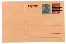 Entero Postal Con Sobrecarga Bayern - Ganzsachen