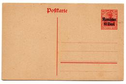 Entero Postal Con Sobrecarga Rumanien - Ganzsachen