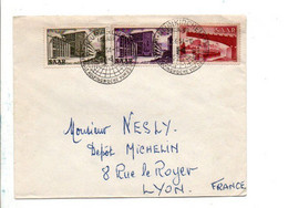 SARRE AFFRANCHISSEMENT COMPOSE SUR LETTRE DE NEUNKIRCHEN POUR LA FRANCE 1954 - Lettres & Documents
