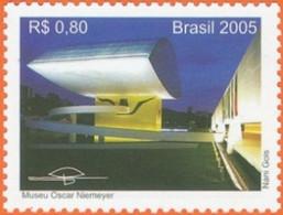 BRAZIL #2608 - MUSEU OSCAR NIEMEYER , CITY OF SÃO PAULO- 2005 -  MNH - Unused Stamps
