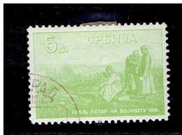 SERBIE. ( Y&T) 1915 - N°126  * Le Roi Pierre Sur Le Champ De Bataille *  5p (oblit) - Serbia