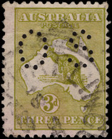 Australia 1915-28 3d Yellow-olive Die I Official Fine Used. - Service