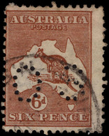 Australia 1923-34 6d Chestnut Die IIB Official Fine Used. - Service