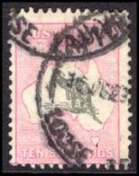 Australia 1929-30 10s Grey And Pink Wmk Multi Crown A Heavy Used. - Oblitérés