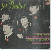 """45 Tours EP -  THE BEATLES  - ODEON 3760   """" I FEEL FINE """" + 3  ( Pochette VIDE - SEULE ) - Other - English Music"""