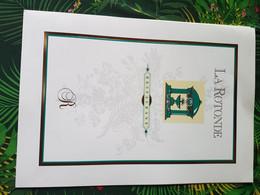 MENU   LA  ROTONDE   PHILIPPE   GAUVREAU     2  ETOILES  CASINO  LA  TOUR  DE  SALVAGNY - Menus