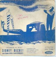 "45 Tours EP -  SIDNEY BECHET - VOGUE 7008  "" SUMMERTIME "" + 3  ( écrit En Bleu )  ( JAZZ )  ( Pochette VIDE - SEULE ) - Other - English Music"