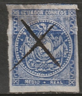 Ecuador 1865 Sc 2  Used Thins/trimmed - Equateur