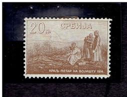 SERBIE. ( Y&T) 1915 - N°129  * Le Roi Pierre Sur Le Champ De Bataille *  20p (neuf) - Serbia