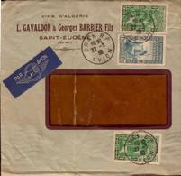 Lettre D Algerie, Oran (avion), Vins D Algerie, Timbre Exp Internationale Pour La France, Le Muy, 1939  (bon Etat) - Algerije (1962-...)