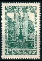 BRAZIL # 870   - BOTANICAL GARDEN OF RIO DE JANEIRO  -  MINT  - 1958 - Unused Stamps