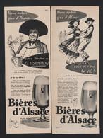 LOT De 8 Pubs Papier 1957 A 1958 Toutes Différentes Boisson Biere D'Alsace Brasserie Bières - Advertising