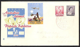 AUSTRALIA ANPEX 1959 Australian National Philatelic Exhibition  Special Cover And Cancellation - Marcophilie