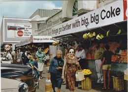 ILE MAURICE . CUREPIPE. LE GRAND MARCHE. ANIMATION  + TEXTE ANNEE 1975 - Mauricio