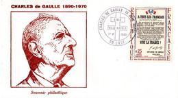 """"""" 40 ANS DE L'APPEL DU 18 JUIN 1940 / GENERAL DE GAULLE """" Sur Env. Commémorative De 1980 Avec Le N° 1696 Parfait état. - De Gaulle (Generale)"""