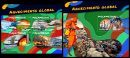 MOZAMBIQUE 2019 - Global Warming, Pollution - YT 8383-6 + BF1423, CV=38 € [MOZ190227] - Polucion