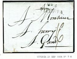 ESPAGNE Lettre Avec Texte De  VITORIA  1806  Vers GAND  BELGIQUE  PR33 - ...-1850 Voorfilatelie