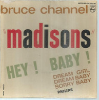"""45 Tours EP -  BRUCE CHANNEL   - PHILIPS 434526  """" HEY ! BABY ! """" + 3  ( Pochette VIDE - SEULE ) - Other - English Music"""