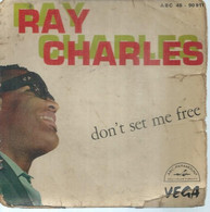 """45 Tours EP - RAY CHARLES  - ABC 90911  -   """" DON'T SET ME FREE """" +  3  ( Pochette VIDE - SEULE ) - Other - English Music"""