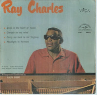 """45 Tours EP - RAY CHARLES  - ABC 90871  -   """" DEEP IN THE HEART OF TEXAS """" +  3  ( Pochette VIDE - SEULE ) - Other - English Music"""