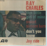 """45 Tours EP - RAY CHARLES  - ATLANTIC 212053  -   """" THIS LITTLE GIRL OF MINE """" +  3  ( Pochette VIDE - SEULE ) - Other - English Music"""