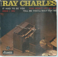 """45 Tours EP - RAY CHARLES  - ATLANTIC 212048  -   """" IT HAD TO BE YOU """" +  3  ( Pochette VIDE - SEULE ) - Other - English Music"""