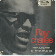 """45 Tours EP - RAY CHARLES  - ATLANTIC 212030  -   """" JUMPIN' IN THE MORNIN' """" +  3  ( Pochette VIDE - SEULE ) - Other - English Music"""