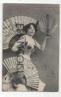 CPA. Photographie Montage. Jeune Femme Et éventails. 1904. Phototypie Bergeret - Mujeres