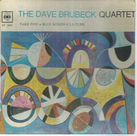 "45 Tours EP - THE DAVE BRUBECK QUARTET   - CBS 5608  -   "" TAKE FIVE  "" +  1  ( JAZZ )  ( Pochette VIDE - SEULE ) - Other - English Music"