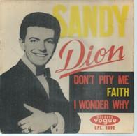 "45 Tours EP - DION  - VOGUE 8092  -   "" SANDY "" +  3  ( Pochette VIDE - SEULE ) - Other - English Music"