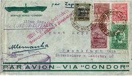 CTN70 - BRESIL  LETTRE AVION VIA CONDOR ZEPPELIN S.PAULO / FRANKFURT 13/8/1932 - Airmail