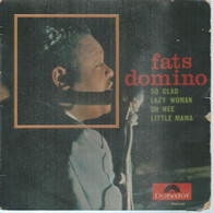 """45 Tours EP - FATS DOMINO  - POLIDOR 27753  -   """" SO GLAD  """" +  3  ( Pochette VIDE - SEULE ) - Other - English Music"""