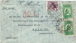 CTN70 - BRESIL  LETTRE AVION RUA CAMERINO D.TO FEDERAL / WIEN 24/7/1937 - Airmail