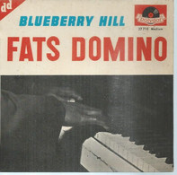 """45 Tours EP - FATS DOMINO  - POLIDOR 27710  -   """" BLUEBERRY HILL  """" +  3 ( Pochette VIDE - SEULE ) - Other - English Music"""