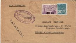 CTN70 - BRESIL  LETTRE AVION VIA ZEPPELIN CONDOR PERNAMBUCO / BERLIN 24/9/1931 - Airmail