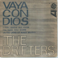 """45 Tours EP - THE DRIFTERS  - ATLANTIC 212061  -   """" VAYA CON DIOS """" +  3  ( Pochette VIDE - SEULE ) - Other - English Music"""