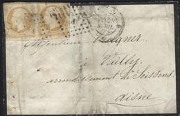 MeF Frankreich Mi 20 Gest 6.7.1866 Paris +Sternnstempel Fernbrief  HK215 - 1862 Napoleone III