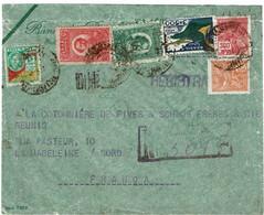 CTN70 - BRESIL  LETTRE AVION RECOMMANDEE RIO GRANDE / LA MADELEINE 12/5/1934 - Airmail