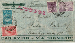 CTN70 - BRESIL  LETTRE AVION VIA CONDOR-ZEPPELIN RIO GRANDE / BERLIN 23/3/1932 - Airmail