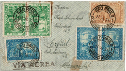 CTN70 - BRESIL  LETTRE AVION SAO PAULO / ERFÜRT 27/11/1934 - Airmail