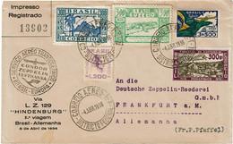 CTN70 - BRESIL  LETTRE AVION PAR CONDOR ZEPPELIN 4/4/1936 - Airmail