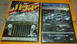 JEEP 1940-1945 WWII HISTOIRE ET TECHNIQUE , DVD NEUF DE 54 MINUTES , AVEC DVD CADILLAC LEGENDE AUTOMOBILE DUREE 86 MINUT - Equipement