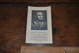 Faire Part De Décès Lieutenant Guy JONES 2è Régiment Lanciers Chevalier Ordre De Léopold Mort En Service Aérien 1938 - Avvisi Di Necrologio