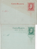 2 Scans Carte Lettre Entiers Postaux Carta Bilhete - Postal Stationery