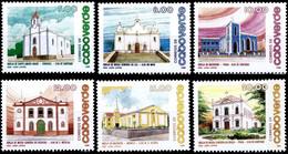 (100) Cape Verde / Cabo Verde  Architecture / Religion / Churches / Eglises / Kirchen  ** / Mnh   Michel 541-546 - Cape Verde