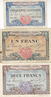 Corbeil 3 Billets 50 C - 1 Et 2 F 1920 JP.050 - Chamber Of Commerce