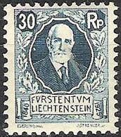 Liechtenstein 1927: 87 Geburtstag Von Fürst Johannes II. (1840-1929) Zu W 3 Mi+Yv 74 ** Postfrisch MNH (Zu CHF 25.00) - Unused Stamps